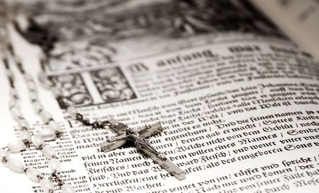 Bible and Rosary Stock Photo - 445280
