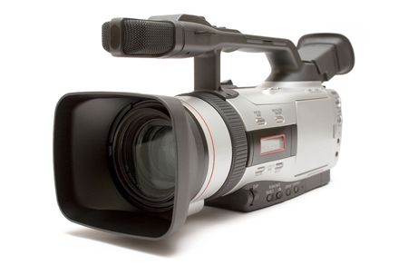 Digital Video Camera (Front-Side View) Stock Photo - 445258