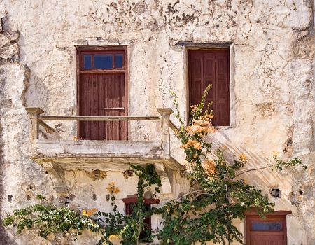 dwelling: Lovely Ancient Dwelling Stock Photo