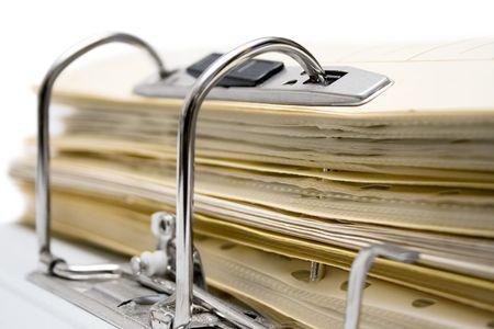 Open File Folder (Close View) Stock Photo