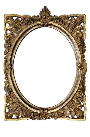 Dirty Old Ornamented Oval Picture Frame w Path