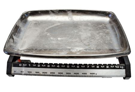 adjusted: Kitchen Scale w Path Stock Photo