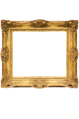 Gold Plated Wooden Picture Frame w Path (Cubic)