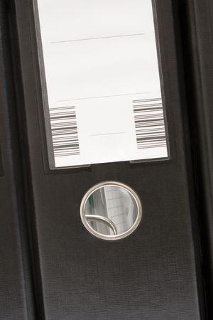 Single Black Folder (Front View) Stock Photo - 447686