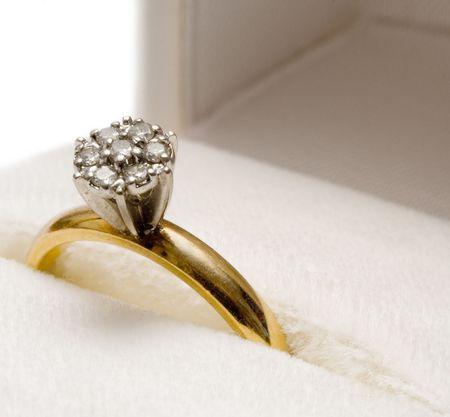 Nested Diamond Ring Stock Photo