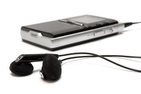 MP3 Player w Earphones Stock Photo