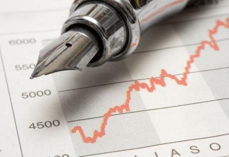 Stock Chart w Fountain Pen