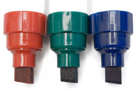 rgb: RGB Permanent Markers Stock Photo