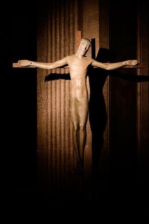 holy symbol: Santo s�mbolo en la iglesia de San Supice, Francia.  Foto de archivo