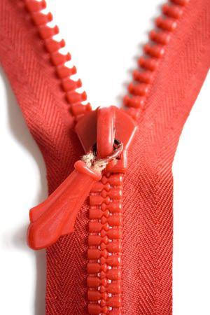 Zipper isolated on white. Stock Photo - 447352