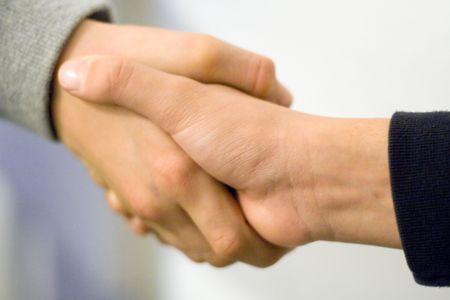 pardon: Boys Shaking Hands