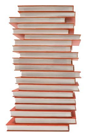 Pile of Red Books w Path