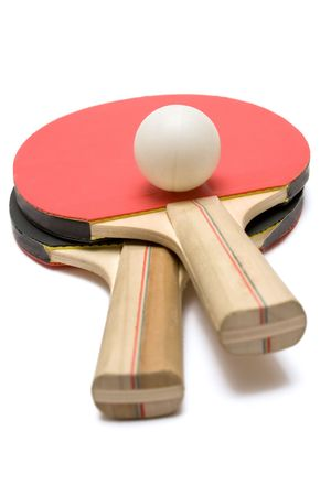 Two Ping Pong Paddles w/ Ball Stock Photo - 450617