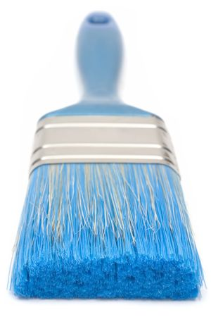 brush painting: Blue Paint Brush (Front View)