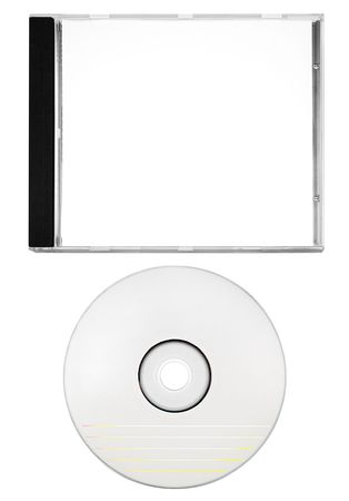 Cover and Blank Disc w Path Stock Photo