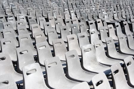lonliness: Empty Seats Stock Photo