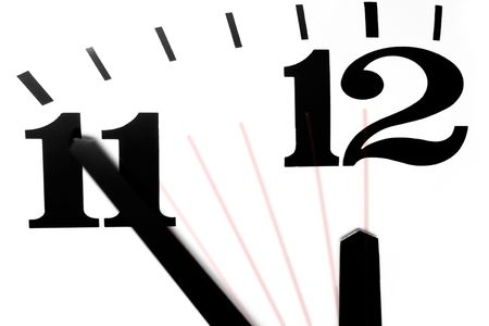 end times: Five Minutes to Midnight Stock Photo