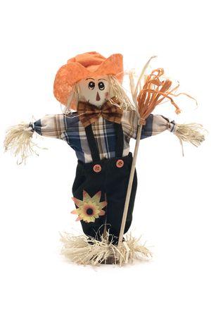 scarecrow: Hecho a mano Espantap�jaros Foto de archivo