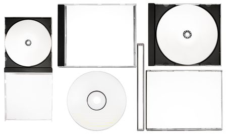 labelling: Complete Disc Labeling Set Stock Photo