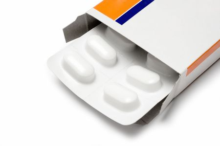 depressant: Pack of Pills (Close View) Stock Photo
