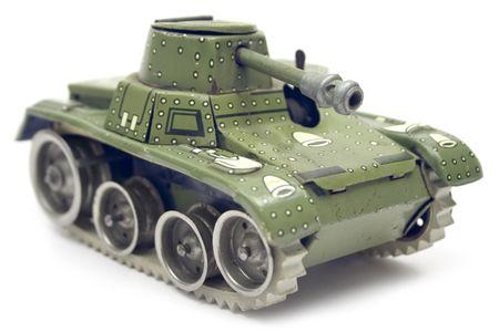war tank: Antiguo dep�sito de juguete