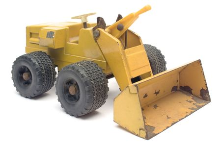 collectable: Toy Digger Stock Photo