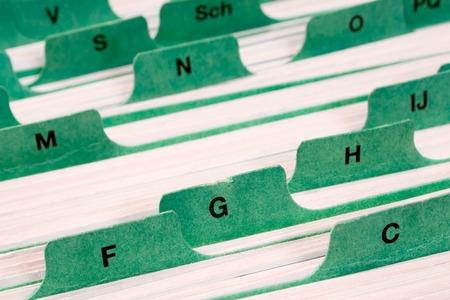 Les fichiers avec des onglets pour lettre de maintien adresses.