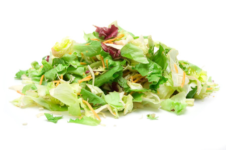 foodstill: Pile of fresh salad isolated on a white background. Stock Photo
