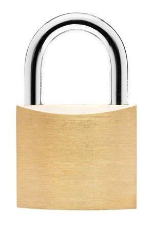 lock symbol: Simple padlock isolated on a white background.