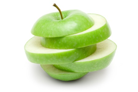 Weird looking piece of fruit isolated on a white background.