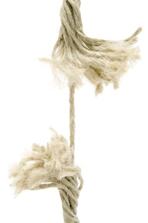 Breaking rope isolated on a white background.