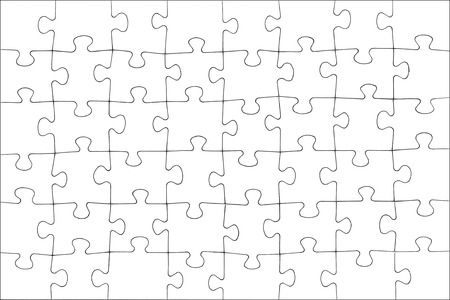 puzzle jigsaw: Blank white puzzle texture.