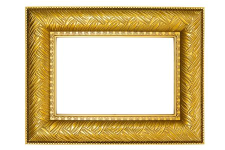 picture framing: Old-fashioned picture frame isolated on a white background.