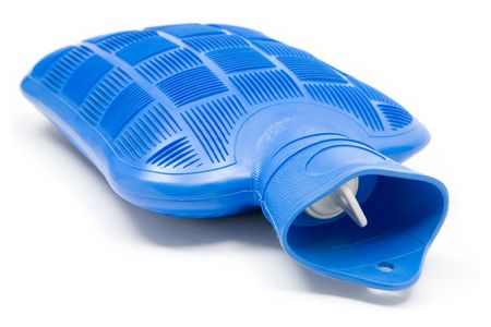 w�rmflasche: Blue Warmwasser Flasche. Wei�en Hintergrund.