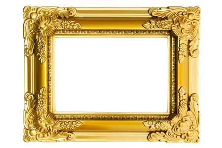 Vintage picture frame isolated on a white background.