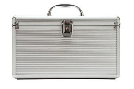 Aluminium case isolated on a white background. photo