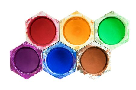 Various watercolors isolated on a white background. photo