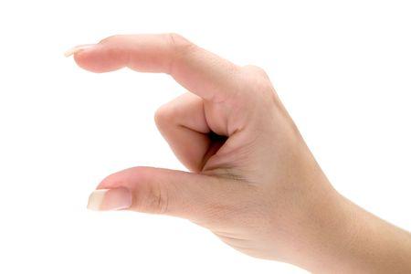 comunicacion no verbal: Comunicaci�n no verbal. Aislada en un fondo blanco.