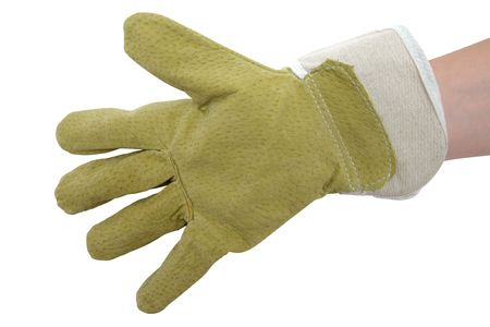 Working glove isolated on a white background. Stock Photo - 2996270