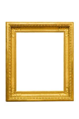ornamentations: Decorata cornice dorata. Isolati su uno sfondo bianco.