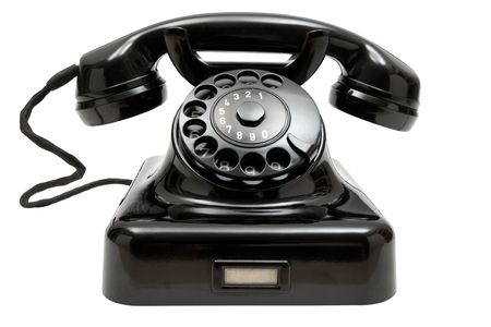 old fashioned: Old-fashioned phone isolated on a white background.