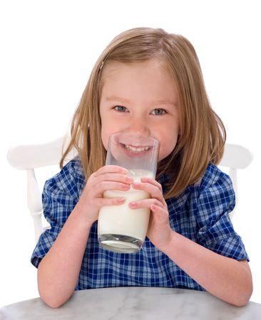 sip: School Girl Drinking Milk