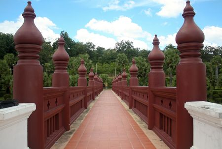The path to heaven, Northern Thailand. Stock Photo