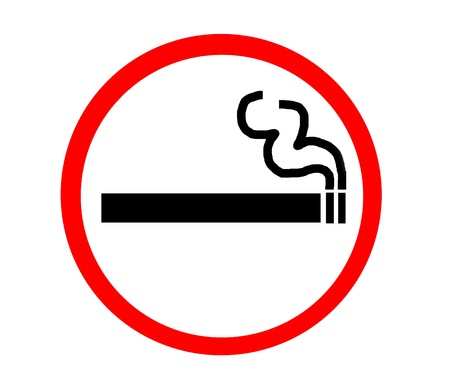 permitted: Symbol of Smoking Zone red