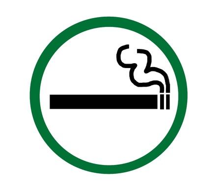 Symbol of Smoking Zone green Stock Photo