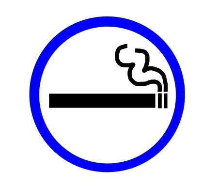 Symbol of Smoking Zone blue