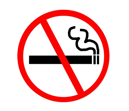 permitted: Symbol of No Smoking Zone