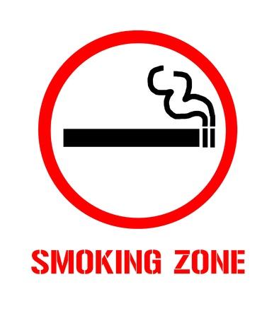 Symbol of Smoking Zone