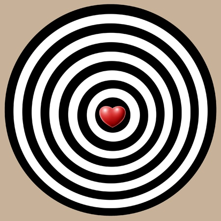 Target of love  Stock Photo