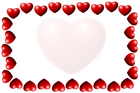 heart frame white background